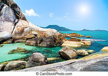 seychelles pool tropical sea
