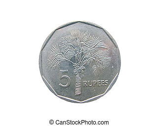 Seychelles Rupee on a white background
