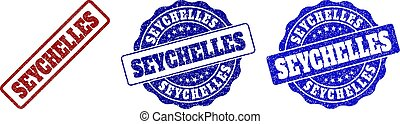 SEYCHELLES Scratched Stamp Seals