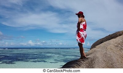 Seychelles summer holidays - La Digue Island, Seychelles,...