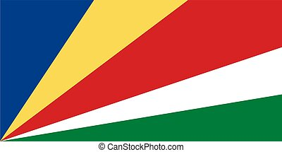 Seychelles vector flag. The flag of Seychelles. Vector illustration