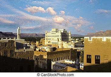 seyun, palast, wadi, sultane, hadramaut, jemen