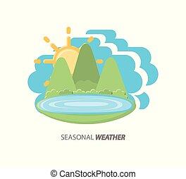 sezonowy, pogoda, projektować