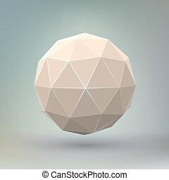 sfärisk, abstrakt, geometrisk, form.
