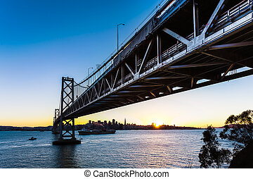 SF Bay Bridge at Sunset