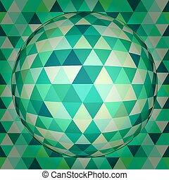 sfera, astratto, 3d