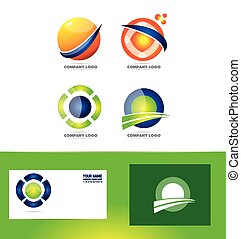sfera, astratto, cerchio, logotipo