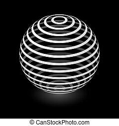 sfera, astratto, elemento