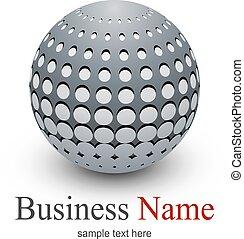 sfera, astratto, logotipo