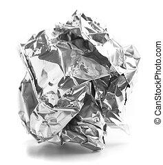 sfera carta, alluminio