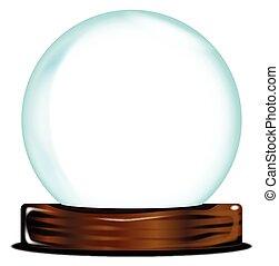 sfera cristallo, vuoto