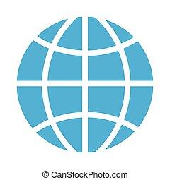 sfera, globale, icona