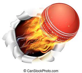 sfera grillo, fiammeggiante, fondo, buco, strappo