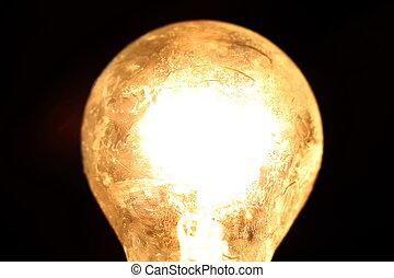 sfera, lampada, vecchio, (selective, focus), comunicare, illuminazione, luminoso, per, creativo, idea, positivo, concetto, disegno