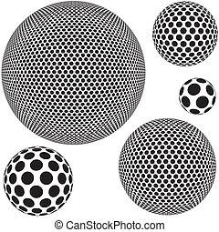 sfera, punteggiato