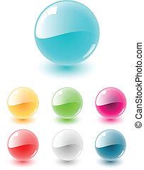 sfera, set, vettore