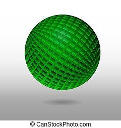 sfera, sollievo, 3d