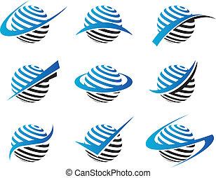sfera, swoosh, icone