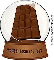sfera, vetro, -, giorno, cioccolato