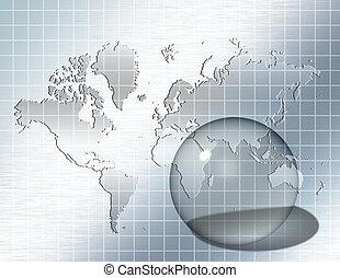 sfera, vetro, mondo