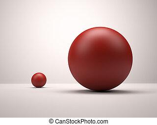 sfere, rosso