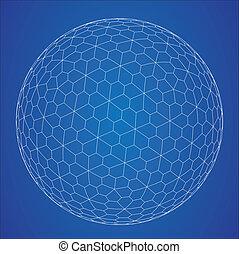 sfere, wireframe