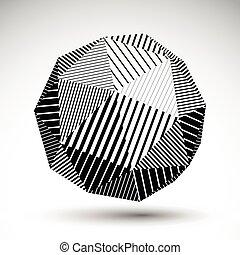 sferico, oggetto, linee, simmetrico, vettore, tecnologia,...