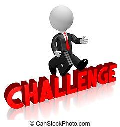 sfida, concetto, 3d