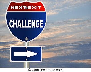 sfida, segno strada