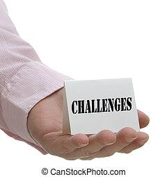 sfide, serie, -, segno