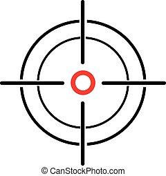 sfondo bianco, crosshair, illustrazione, reticle