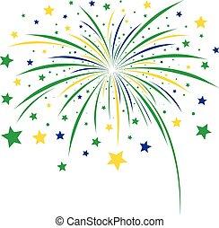 sfondo bianco, firework, disegno