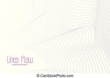 sfondo bianco, linee, fluente, rosa