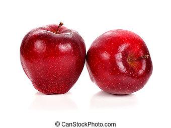sfondo bianco, mela rossa