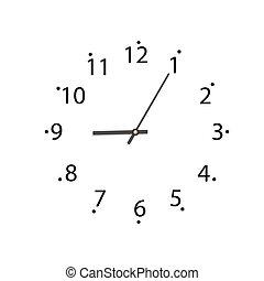 sfondo bianco, orologio