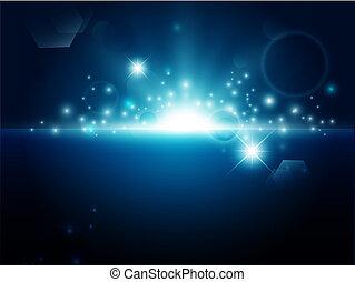 sfondo blu, luminoso, astratto