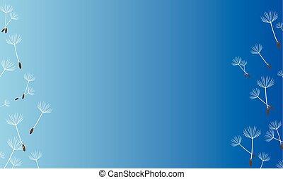 sfondo blu, primavera, stile, collezione