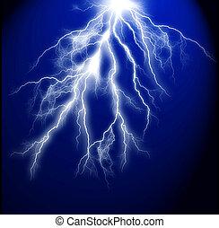 sfondo blu, scuro, elettrico, lampo