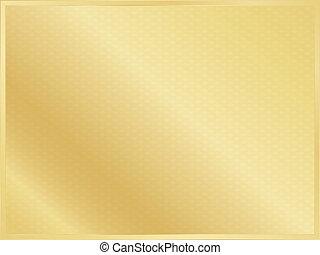 sfondo dorato, con, bordo