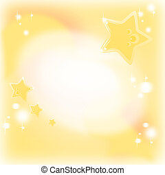 sfondo dorato, con, magia, e, sognante, stelle