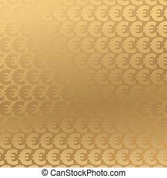 sfondo dorato, euro