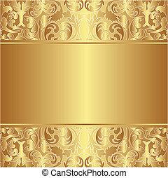 sfondo dorato, ornamenti