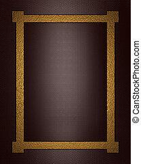 sfondo marrone, oro, frame.