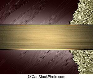 sfondo marrone, oro, testo, astratto, elemento, ornamenti, ...