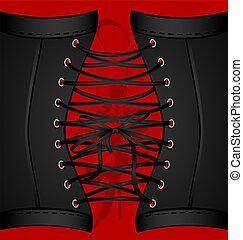 sfondo nero, corsetto