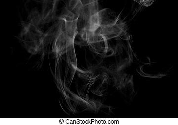 sfondo nero, fumo, bianco, struttura