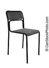 sfondo nero, sedia, isolato, ufficio, bianco