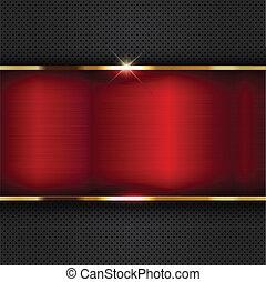 sfondo rosso, metallico