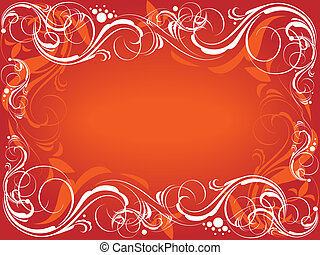 sfondo rosso, ornare