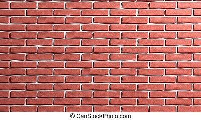 sfondo rosso, parete, mattone